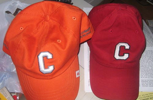 Cappex Hat next a Cornell Hat