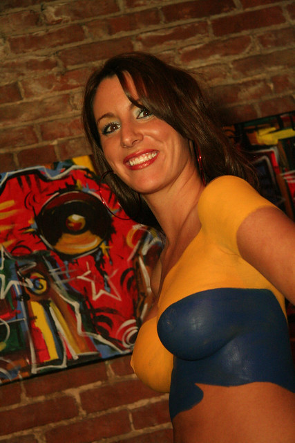 photo body whole painting and nice boob
