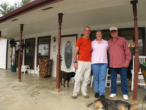 With Warren and Liz in Dolen, Texas, USA