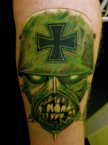 slayer tattoo done by john at bizarre ink 36 westport edinburgh
