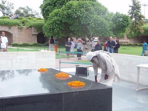 Raj Ghat o Tumba de Gandhi
