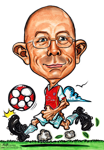 Caricature Arsenal soccer player