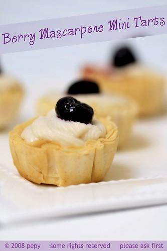 Berry Mascarpone Mini Tarts 3