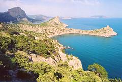 Crimea, Noviy Svet (yuriye) Tags: sea mountain landscape bay rocks russia crimea blacksea ecotourism sudak noviysvet