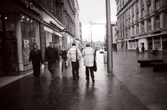 Two policemen and racquets (kuma chan) Tags: blackandwhite scotland couple edinburgh alf bn squash ilford policemen edimburgh spru alfsan
