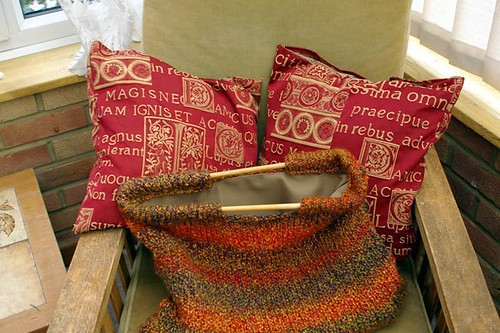 Bag and cushions