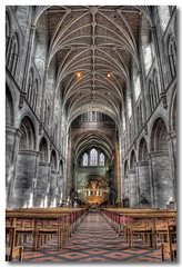 Hereford Cathedral (Roger.C) Tags: church stone choir work canon lights cathedral chairs stonework ceiling organ 1855mm ornate hereford soe hdr 30d supershot photomatrix 3exp mywinners abigfave aplusphoto