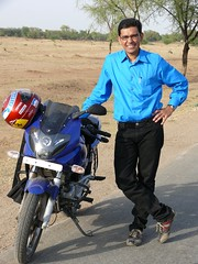 In Rajasthan - On Pulsar 220