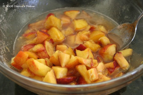 Peach Ice Cream: Peaches and Sugar