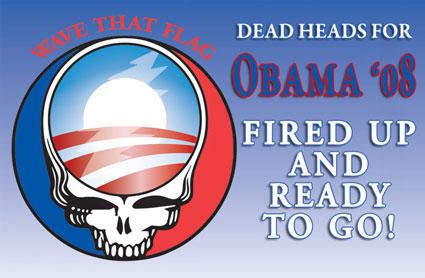 Deadheads for Obama poster kinda banner dealie