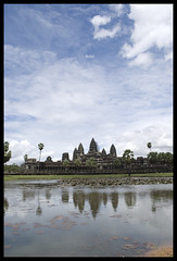 Angkor Wat reflected, afternoon