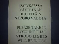 STROBO VALO OMG (obs9876) Tags: warning helsinki live strobe jarre