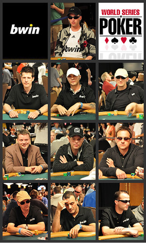 Unsere zehn Spieler im Main Event (geordnet nach Chipcount)