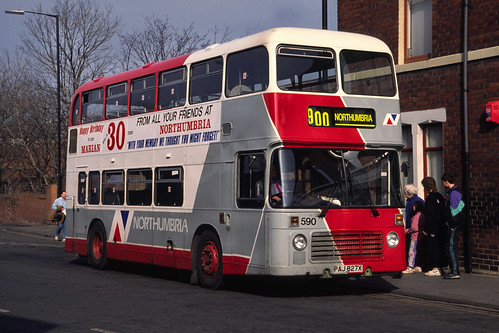 Northumbria Motor Services Bristol VRT / ECW 590 (PAJ827X)