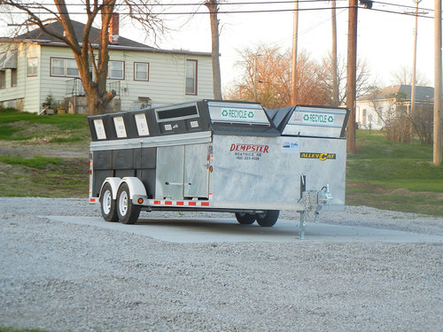 This recycling trailer,  purchased with city and USDA funds, will help a Nebraska community's recycling program.