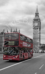 A Postcard From London (Chris Bailey Photographer) Tags: road uk houses red bus london clock big coach hands traffic time ben taxi postcard smoke famous landmark tourist double queen passengers commuters decker the centeral of paraliment