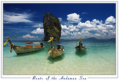 Boats of the Andaman Sea (orvaratli) Tags: ocean sea clouds landscape thailand boats island iceland south soe longtail krabi andamansea icelandic flickrsbest abigfave platinumphoto anawesomeshot colorphotoaward diamondclassphotographer flickrdiamond proudshopper theperfectphotographer thegoldendreams alltypesoftransport arcticphoto lpfloating rvaratli orvaratli