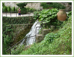 Who is taking photo of who:) (Queen Tiye) Tags: nature waterfall ancient bulgaria vase antiques balchik varna