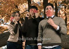 Siblings of The Fall (Abdullah AL-Naser) Tags: autumn portrait usa fall nature portraits canon persian artistic brothers siblings westvirginia iranian ef morgantown kuwaiti strobe 30d abdullah 2470mm speedlite f28l strobist alnaser