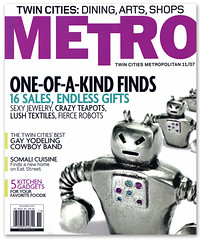 Metro Magazine Cover (tubes.) Tags: metal magazine robot metro minneapolis jewelry robots cover karinjacobson seantubridy destroyerbot