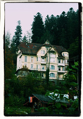 House on Haunted Hill (seven years) Tags: house mist black forest canon germany dark hill haunted spooky baden triberg 400d