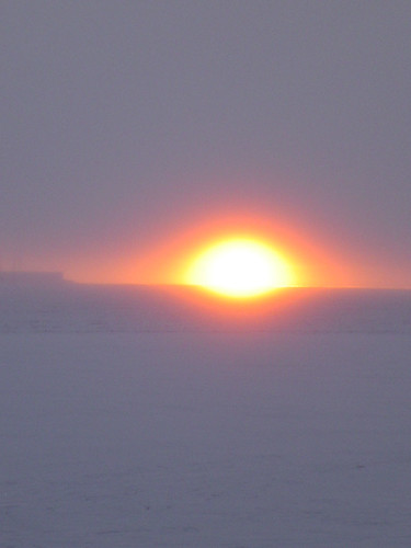 Ice Fog and Sunset