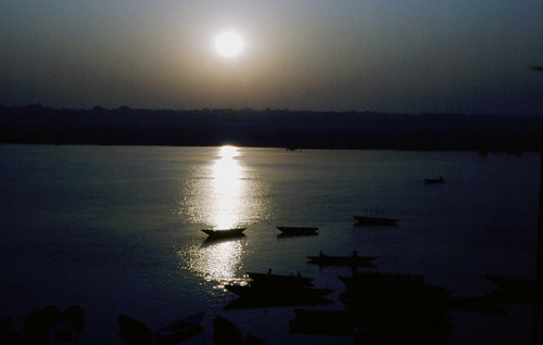 Inde Lever de soleil sur le Gange