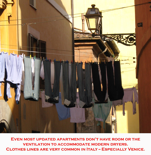 Get that Italian-apartment feel with a clothesline!