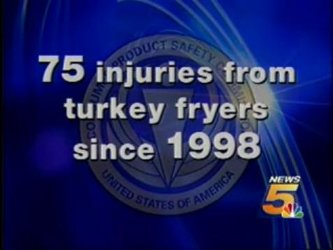 75 Turkey Fryer Injuries!  Since 1998!
