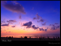 Sunset of Kuta Beach (swinelin) Tags: ocean travel sunset sea vacation bali beach indonesia island october asia tropical    kuta 2007