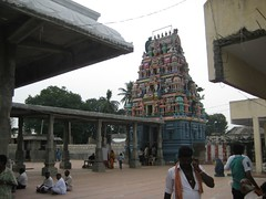 Rajagopuram from left side outer Praharam