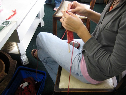 Erica knitting