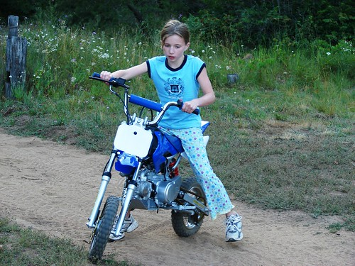 Emma on dirt bike