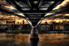 Under The Bridge (BarneyF) Tags: bridge building london thames river under hdr blueribbonwinner mywinners anawesomeshot aplusphoto superhearts