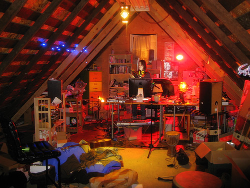 Attic music studio