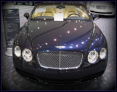 2008 Bentley Continental GTC () Tags: sf auto sanfrancisco california ca city b party car downtown centro thecity continental autoshow exotic soire posh expensive moscone bentley carshow mosconecenter bluecar kalifornien sfist  saofrancisco motorvehicle  expensivecar grandtourer californi continentalgtc