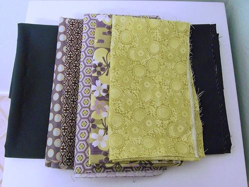 Grey & Green Fabrics