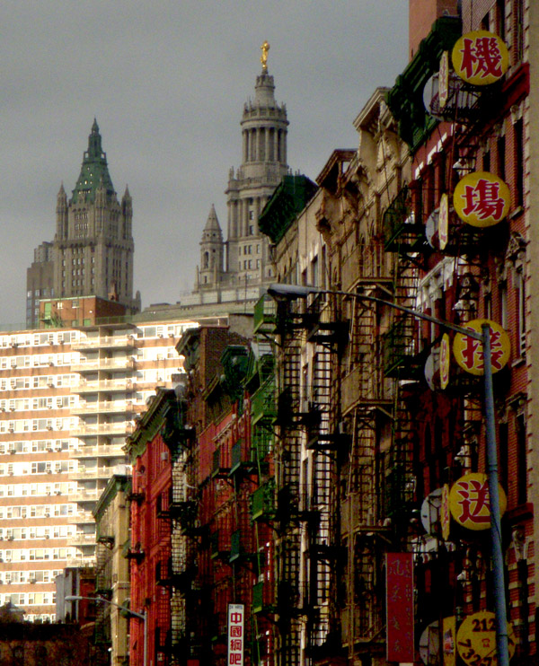 Woolworth over Chinatown