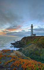 Sunset at Pigeon Point (sachman75) Tags: california sunset lighthouse historic highway1 hdr pigeonpoint pescaderobeach 1022m 400d diamondclassphotographer