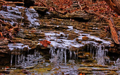 Frozen Waterfall (Thomas  Johnson Photography) Tags: winter cold ice water beautiful digital rural canon outside outdoors frozen colorful scenic running missouri stunning 2008 icicles rockformations thomasjohnson 40d thomasjohnsonphotography