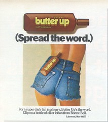 1970's Butter Up Tanning Lotion (twitchery) Tags: sun vintage ads tan oil 70s tanning lotion vintageads vintagebeauty bonnebell