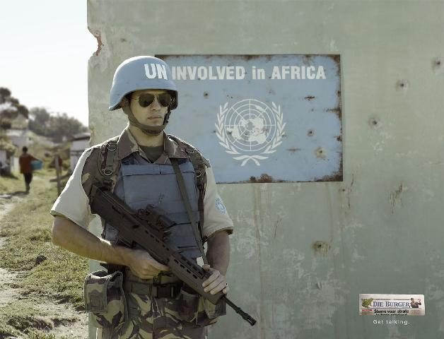 UNinvolved - From Die Burger; Advertising Agency: FCB Cape Town; South Africa; Creative Director: Francois de Villiers; Art Director: Anthony de Klerk; Copywriter: Marius van Rensburg; Photographer: Chad Henning