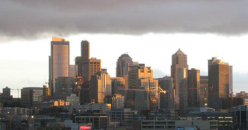 February Sunshine on Seattle Skyline