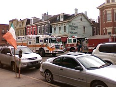 Protecting Little Italy (CarmanAvenue) Tags: rescue car truck fire pittsburgh crash accident littleitaly picnik bloomfield libertyavenue