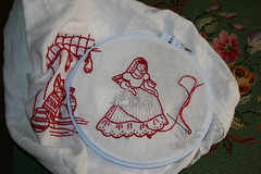 Redwork embroidery senorita resized