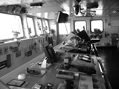 My office. (Nisham Says Hi) Tags: ocean bridge sea white black sailing ship duty watch vessel systems container deck controls shipping electronic telegraph merchant navigation