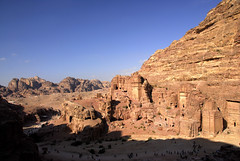 A Panoramic View of Petra (marantzer) Tags: digital nikon petra unesco worldheritagesite jordan d200 dslr dx rekem nabataeans afsdxvrzoomnikkor18200mmf3556gifed  rockcutarchitecture newwondersoftheworld marantzer albatrbarchaeologicalsite