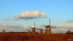 Mills Kinderdijk (JaapCom) Tags: jaapcom mills mill moulin molen molino molenaar mulder landscape polder zuidholland dutchnetherlands clouds natural hollanda kinderdijk