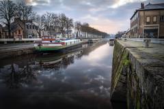 Canal de Nantes à Brest. (f.ray35) Tags: canal pays de la loire bretagne brittany redon rivière canon reflet sky clouds exterieur cityscape landscape sunlight