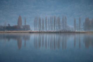 Paysage normand en hiver